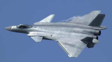 Jet tempur siluman China Chengdu J-20 (Wikimedia Commons)