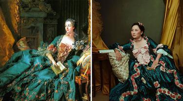 Wanita Ini Mereplika Gaun Era Tahun 1700-an, 6 Hasilnya Bak Putri Dalam Lukisan