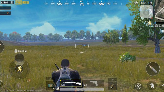 Main PUBG Mobile dengan pengaturan low. (Liputan6.com/ Yuslianson)