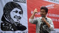 Emil Dardak di sela deklarasi dukungan Sedulur RIKHO di Malang, Jawa Timur (Liputan6.com/Zainul Arifin)