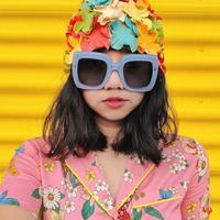 Diana Rikasari dengan style warna-warni. (Instagram/dianarikasari).