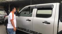 Mobil BBKSDA Sumut diserang OTK (Istimewa)