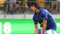 Sandro Tonali masuk radar Juventus. (AFP/Timo Aalto)