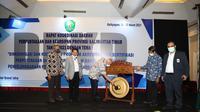 Rapat koordinasi daerah (Rakorda) Perpustakaan dan Kearsipan se-Provinsi Kalimantan Timur Tahun 2021, Selasa (16/3/2021). (Liputan6.com/ Ist)