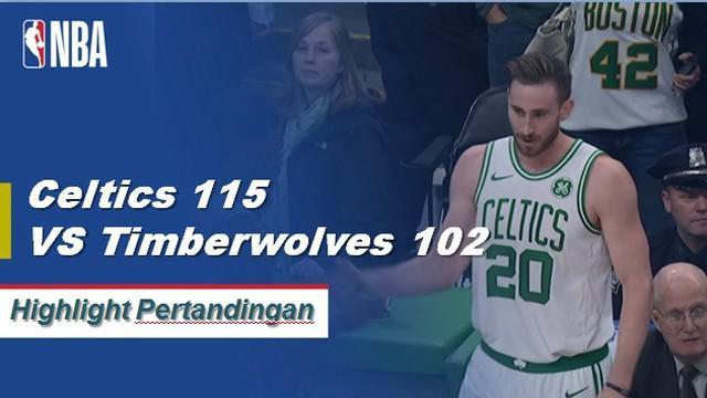 Gordon Hayward mencetak 35 poin untuk Celtics ketika mereka mengalahkan Timberwolves 115-102.