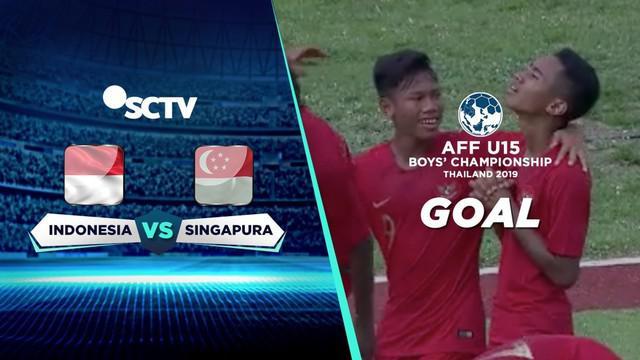 Berita video momen gol pertama Timnas Indonesia ke gawang Singapura di Grup A Piala AFF U-15 2019 yang dicetak Marselino Ferdinan, Senin (29/7/2019).