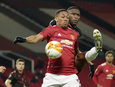 FOTO: Ditahan Imbang 0-0 Real Sociedad, Manchester United Lolos ke Babak 16 Besar Liga Europa - Anthony Martial; Modibo Sagnan