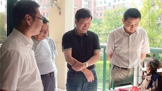 Foto empat politikus China yang terlihat diedit, namun hasilnya mengherankan. (Ningguo Civil Affairs Department)