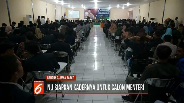 Kader terbaik Nahdlatul Ulama siap membantu pemerintahan Jokowi dan Ma'ruf Amin di kabinet kerja.