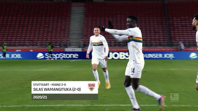 Berita video 5 gol terbaik pada pekan ke-19 Bundesliga 2020/2021, di mana salah satunya torehan solo run dari bintang Stuttgart, Silas Wamangituka.
