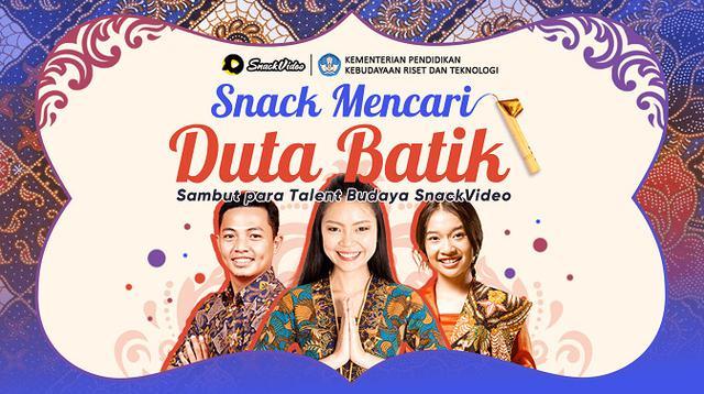 SnackVideo baru saja meluncurkan program Snack Mencari Duta Batik bersama Kemendikbudristek. (Ist.)