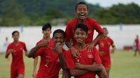 Timnas Indonesia U-15 melaju ke semifinal Piala AFF U-15 2019 setelah mengalahkan Myanmar dengan skor 5-0. (dok. PSSI)