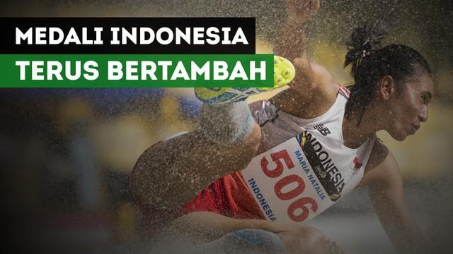 Kontingen Indonesia terus menambah perolehan medali, mereka telah mengoleksi dengan torehan 102 medali.