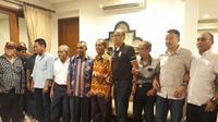 Deklarasi Rahim Soekasah menjadi Caketum PSSI. (Istimewa).