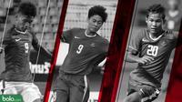 3 pemain Timnas Indonesia U-16: Sutan Zico, Rendy Juliansyah dan Bagus Kahfi. (Bola.com/Dody Iryawan)