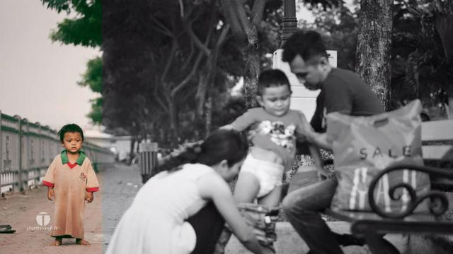 Viral Bocah Pemulung Termenung Lihat Keluarga Bahagia Bikin