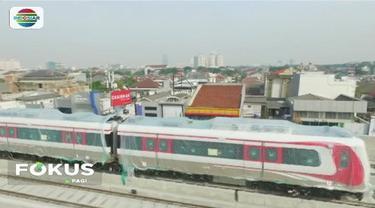 Pengerjaan proyek LRT Jakarta rute Kelapa Gading - Velodrome, telah mencapai 70 persen. Pengerjaan saat ini dititik beratkan pada penyelesaian konstruksi fisik dan instalasi.