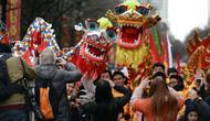 Ilustrasi naga China (AP Photo/Wang Zouhan)