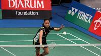 Tunggal putri pelatnas PBSI, Fitriani, langsung tersingkir pada babak pertama Indonesian Masters 2016 setelah dikalahkan wakil China, Gao Fangjie, Rabu (7/9/2016). (PBSI)