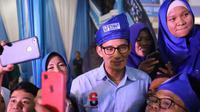 Calon Wakil Presiden Sandiaga Uno saat berada di Riau. (Istimewa)