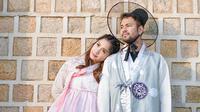 Raffi Ahmad dan Nagita Slavina tampil kompak mengenakan hanbok, busana tradisional Korea Selatan (Dok.Instagram/@raffinagita1717/https://www.instagram.com/p/B5bh6oIhq_e/Komarudin)