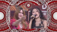 Inul memuji kemampuan Jelsy (DKI Jakarta) saat menyanyikan Madu Tuba. (Indosiar)