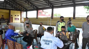 rapid tes personel pengamanan TPS jelang pemungutan suara Pilkada di Tolitoli