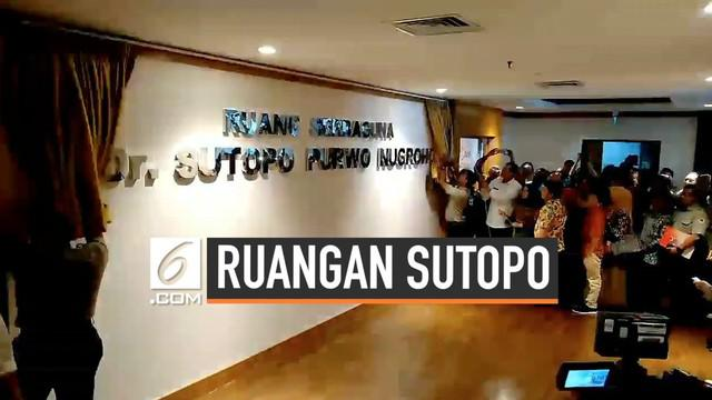 BNPB kini resmi memiliki ruang serbaguna yang diberi nama Dr Sutopo Purwo Nugroho. Hal ini dilakukan sebagai penghormatan terhadap jasa Sutopo selama mengabdi di BNPB.
