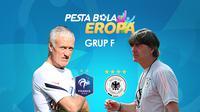 Duel pelatih Prancis vs Jerman: Didier Deschamps vs Joachim Low. (Bola.com/Dody Iryawan)