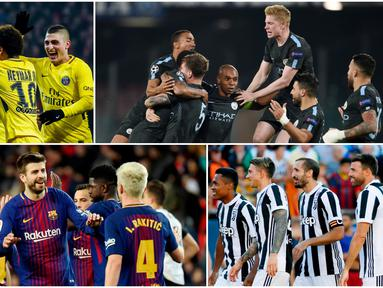 Berikut ini 10 klub Sepak Bola dengan skuat termahal di Eropa. Diantaranya Manchester City, Paris Saint-Germain dan Barcelona. (Foto-foto Kolase AP dan AFP)