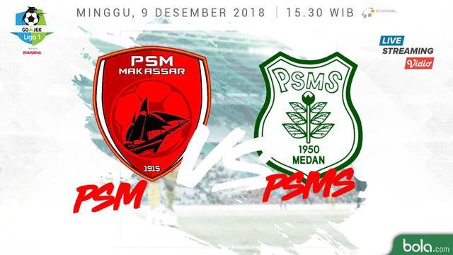 PSM Makassar unggul 2-0 atas PSMS Medan meski laga belum genap 20 menit.
