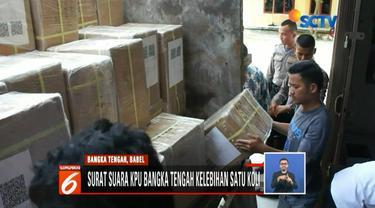 Sebanyak 1 koli atau 1.000 surat suara DPR milik KPU Kabupaten Bangka Barat salah kirim ke kantor KPU Bangka Tengah.