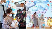 Momo Geisha dan keluarga gelar acara selapanan baby Abe di rumah. (Sumber: YouTube/Momo  YouTube Channel)