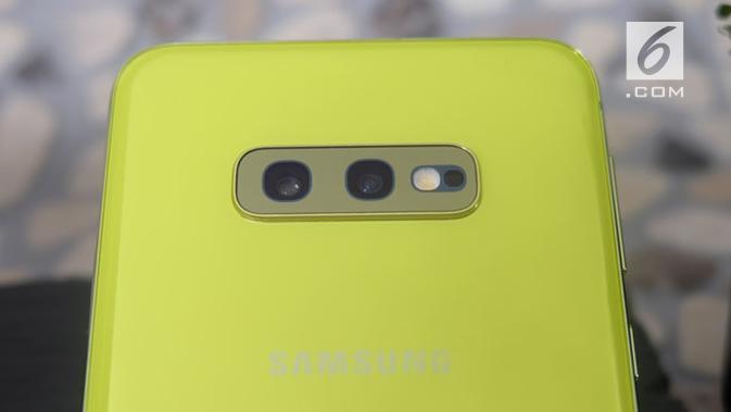 Kamera belakang Samsung Galaxy S10e. Liputan6.com/Andina Librianty