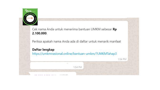 Cek Fakta Liputan6.com menelusuri daftar penerima bantuan UMKM sebesar Rp 2,1 juta