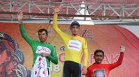 Jesse Ewart dari Sapura Cycling Team Malaysia masih mempertahankan yellow jersey Tour de Singkarak 2018 hingga etape VII. (dok. Tour de Singkarak 2018)