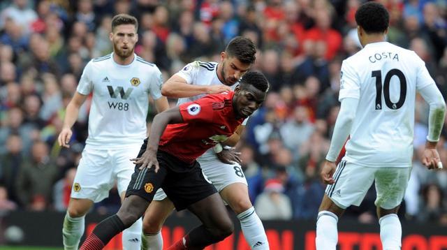 Manchester United bermain 1-1 kontra Wolverhampton Wanderers pada laga pekan keenam Premier League, di Old Trafford, Sabtu (22/9/2018). (AP Photo/Rui Vieira)