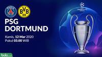 Liga Champions 2019-2020: PSG vs Borussia Dortmund. (Bola.com/Dody Iryawan)