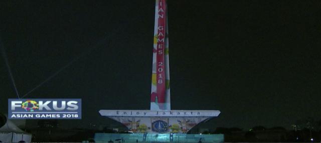 Sambut Asian Games 2018, Monumen Nasional atau monas akan dipercantik dengan kehadiran video mapping.