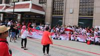 Ratusan warga di Taiwan deklarasi dukung Jokowi - Ma'ruf.