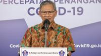 Juru Bicara Pemerintah untuk Penanganan COVID-19 Achmad Yurianto saat konferensi pers Corona di Graha BNPB, Jakarta, Minggu (28/6/2020). (Dok Badan Nasional Penanggulangan Bencana/BNPB)