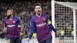 1. Lionel Messi (Barcelona) - 29 Gol (4 Penalti). (AP/Emilio Morenatti)