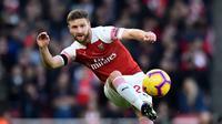 Shkodran Mustafi (41 juta euro) - Shkodran Mustafi menjadi bek Jerman termahal saat dilabuhkan Arsenal pada musim 2016/2017. Arsenal mendatangkan Mustafi dari Valencia dengan harga 41 juta euro. (AFP/Glyn Kirk)