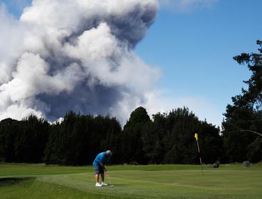 Gunung Kilauea Hawaii Meletus