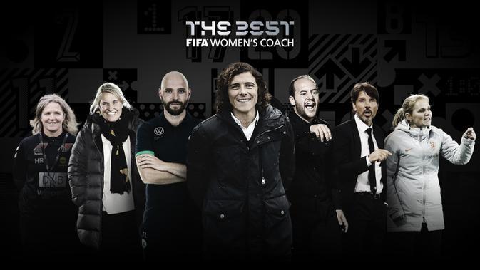 Nominasi pemenang pelatih terbaik tim putri FIFA The Best Award 2020. (Dok FIFA)