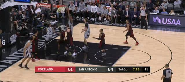 Berita video game recap NBA 2017-2018 antara San Antonio Spurs melawan Portland Trail Blazers dengan skor 116-105.