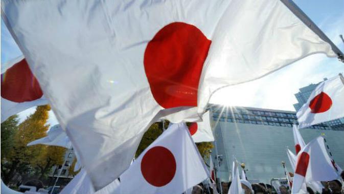 Ilustrasi bendera Jepang (AFP/Toru Yamanaka)