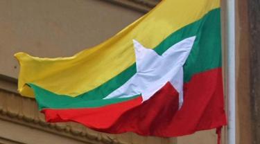 Ilustrasi bendera Myanmar (AFP Photo)