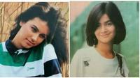 Potret para artis era 90-an saat jadi model iklan baju. (Sumber: Dream)
