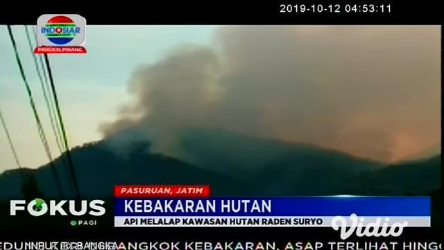 Kepulan asap tebal ini muncul, dari lereng Gunung Arjuno di Taman Hutan Raya Raden Soerjo atau Tahura R. Soerjo Kecamatan Prigen, Pasuruan, Jawa Timur, Jum'at (11/10) sore.